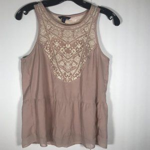 American Eagle Outfitters Pink and White Top